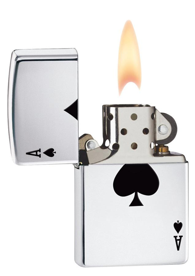Bật Lửa Zippo Lucky Ace High Polish Chrome 24011