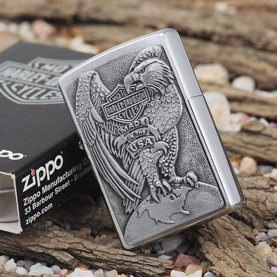 Bật Lửa Zippo Classic Harley Davidson Eagle & Globe 200HD.H231