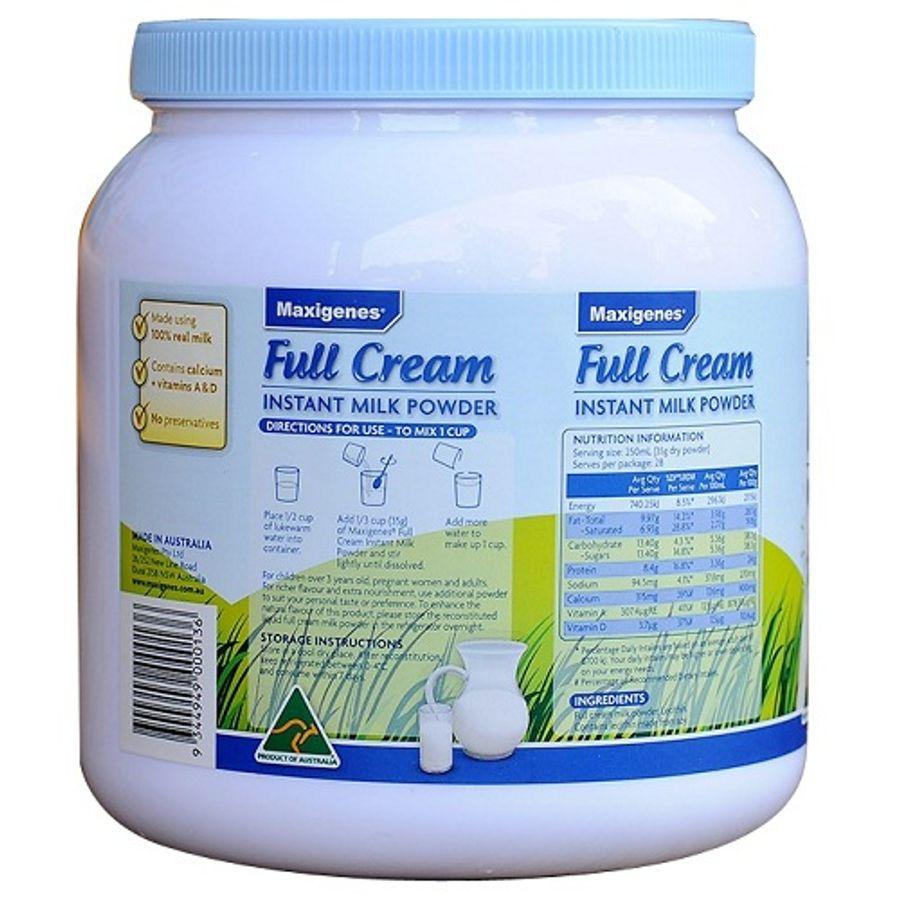 Sữa Nguyên Kem Maxigenes Úc 1kg