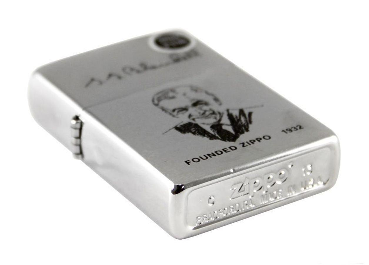 Bật Lửa Zippo Founder's Brushed Chrome Finish 200FL