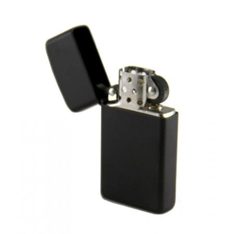 Bật Lửa Zippo Slim Black Matte Lighter 1618