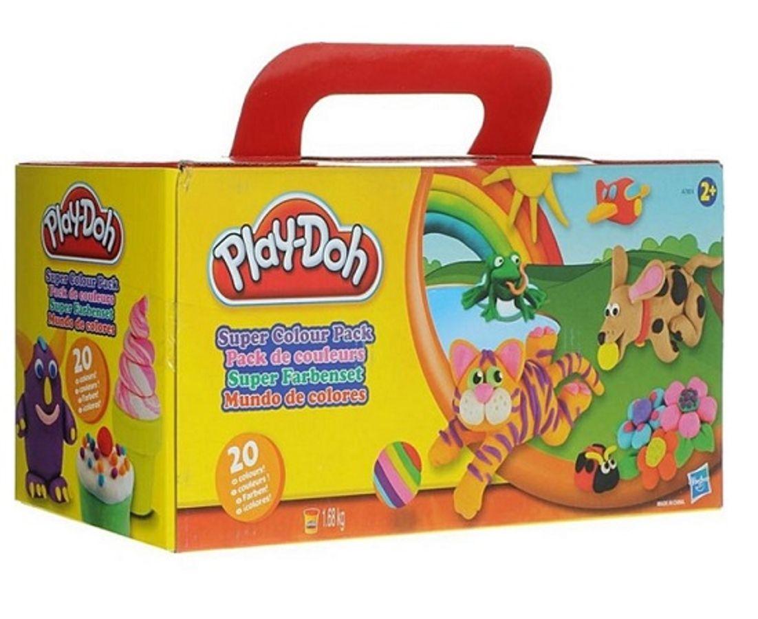 Bộ Đất Nặn Mỹ Play-Doh A7924 - Bộ Nặn 20 Màu Sắc