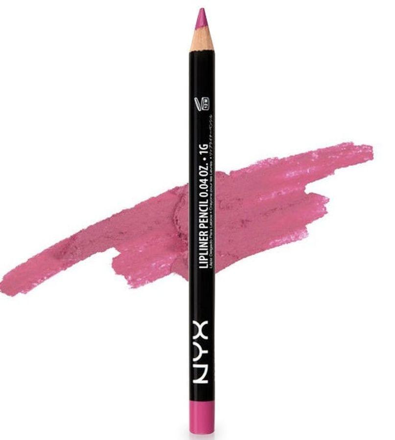 Chì Kẻ Môi Nyx Slim Lip Pencil Hot Pink Siêu Mảnh