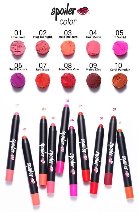 Son Tonymoly Spoiler Sheer Matte Lip Pencil Hàn Quốc