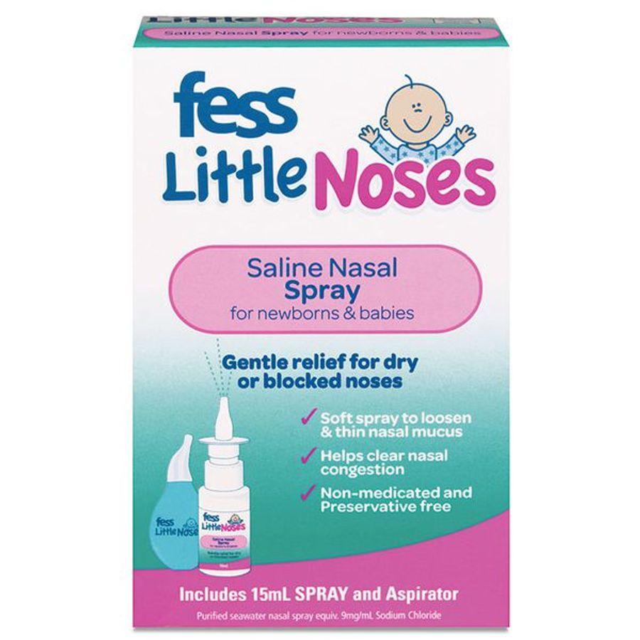 Xịt Hỗ Trợ Nghẹt Mũi, Sổ Mũi Kèm Bóng Hút Fess Little Noses Spray