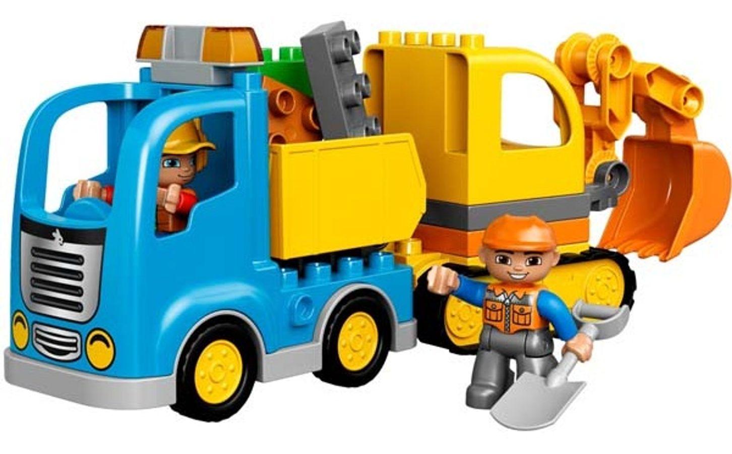 Đồ Chơi Xếp Hình Lego Xe Máy Xúc - Lego Duplo 10812