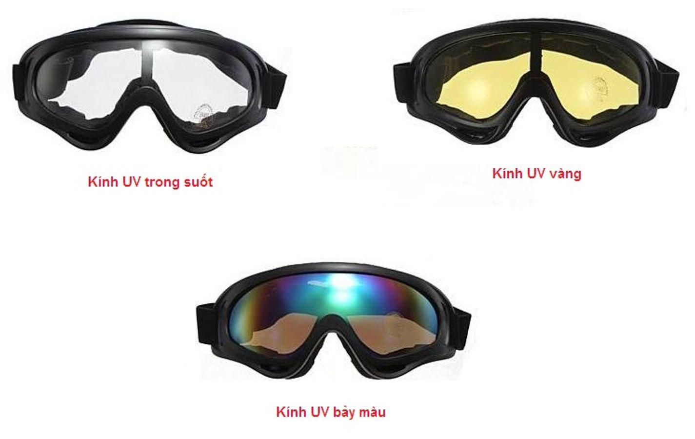 Kính Phượt X400 Chống Tia UV, Chống Bụi
