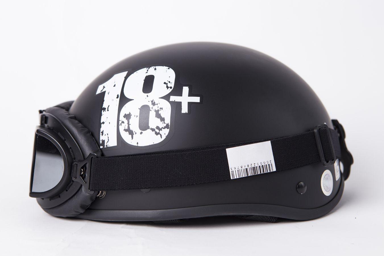 Mũ Bảo Hiểm Nửa Đầu Chita Kèm Kính Phi Công