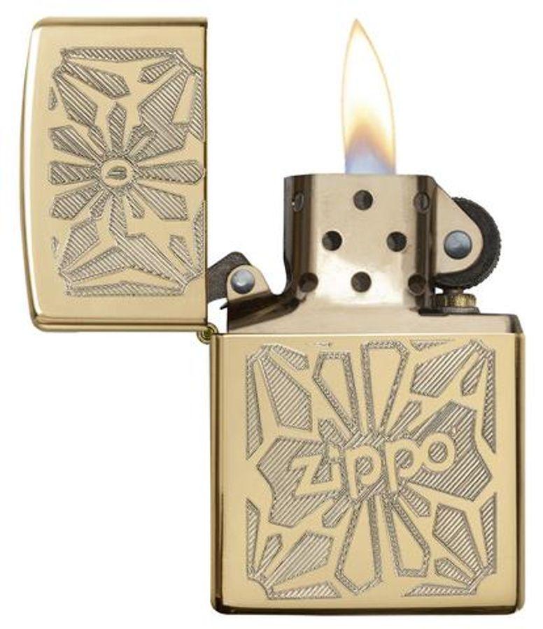 Bật Lửa Zippo 28450 Ornament High Polish Brass