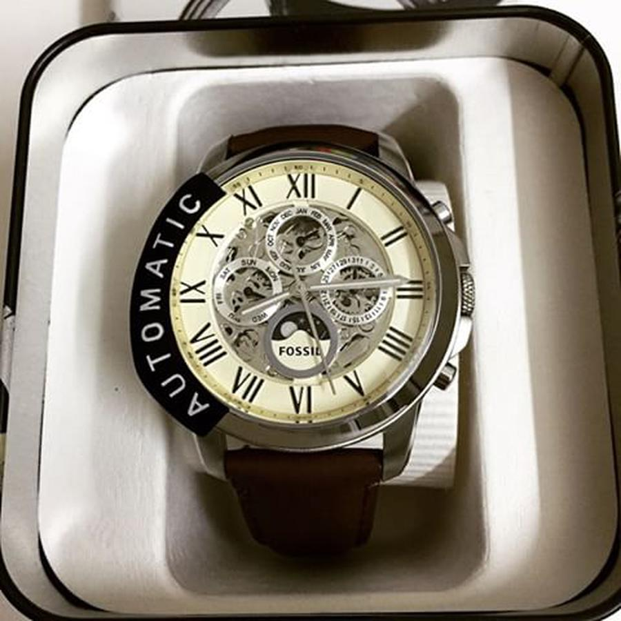 Đồng Hồ Fossil Automatic ME3027 Dây Da Cho Nam