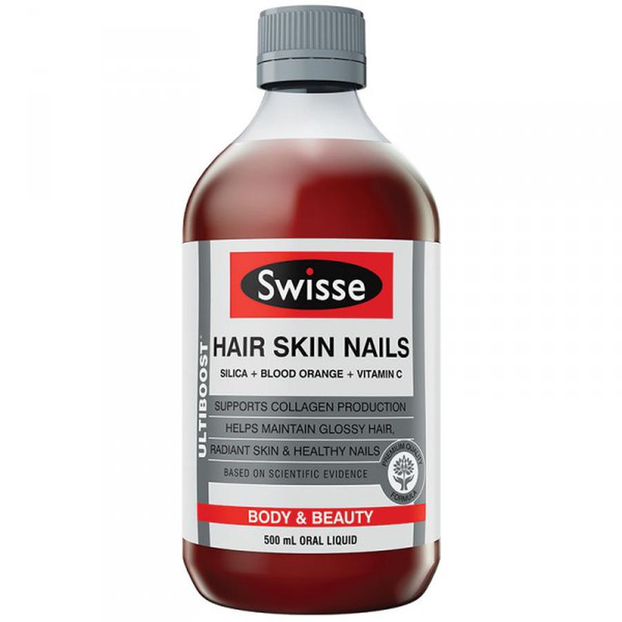 Collagen Dạng Nước Swisse Ultiboost Hair Skin Nails 500ml