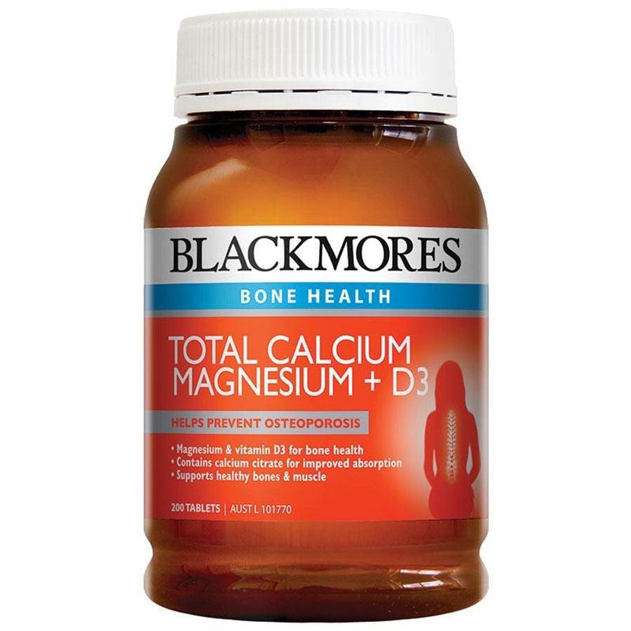 Viên Uống Bổ Sung Calcium & Magnesium + D3 Blackmores Hộp 200 Viên