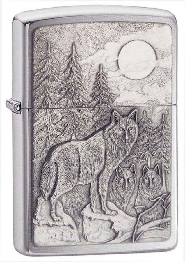 Bật Lửa Zippo 20855 Timberwolves Emblem Brushed Chrome