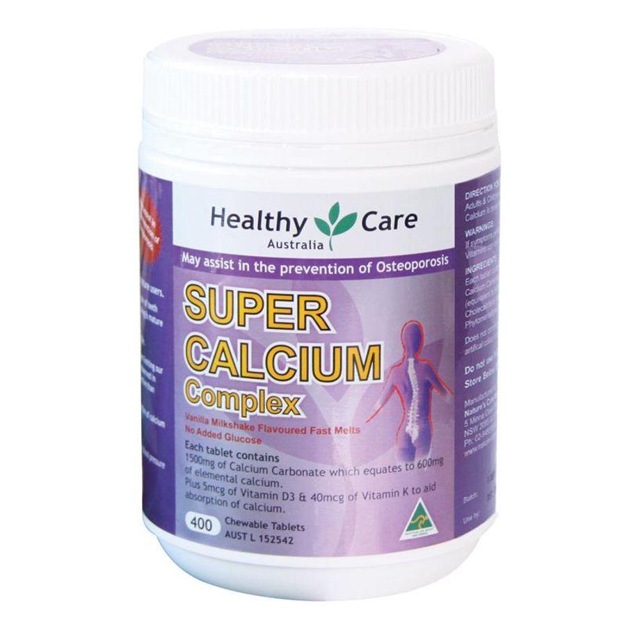 Super Calcium Complex Healthy Care Hộp 400 Viên Của Úc
