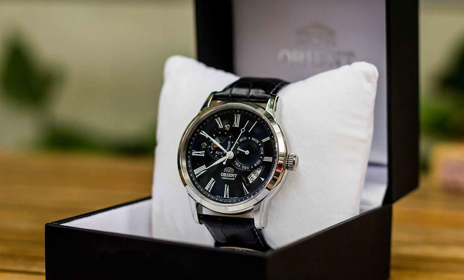 Đồng Hồ Orient Automatic Sun And Moon SET0T004D0