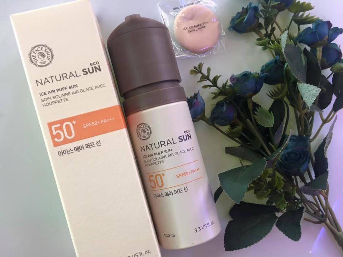 Kem Chống Nắng The Face Shop Ice Air Puff SPF50