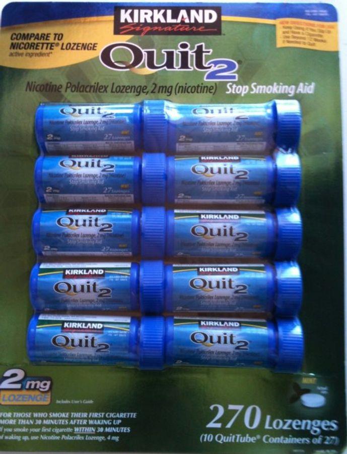 Kẹo Cai Thuốc Lá Kirkland Gum Quit 2 Hộp 270 Viên Của Mỹ