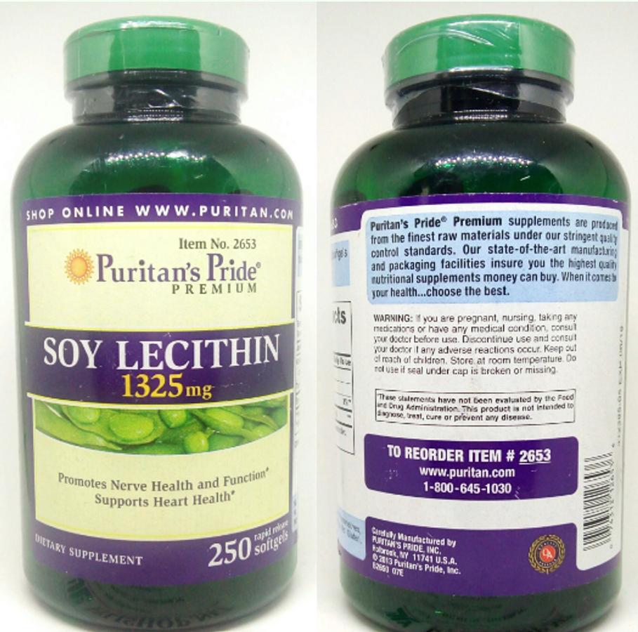 Viên Uống Tinh Chất Mầm Đậu Nành Soy Lecithin 1325 Mg Puritan Pride