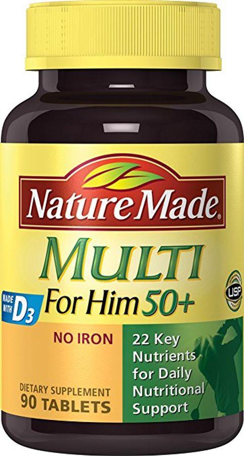Vitamin Tổng Hợp Cho Nam Trên 50 Tuổi Nature Made Multi For Him 50+