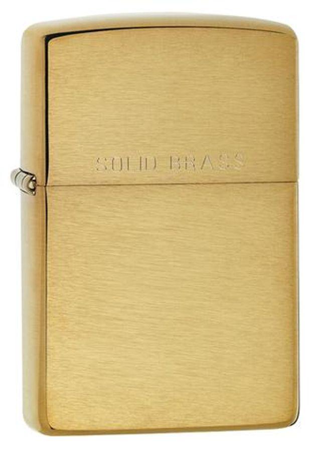 Bật Lửa Zippo 204 Xước Vân Ngang Brushed Solid Brass