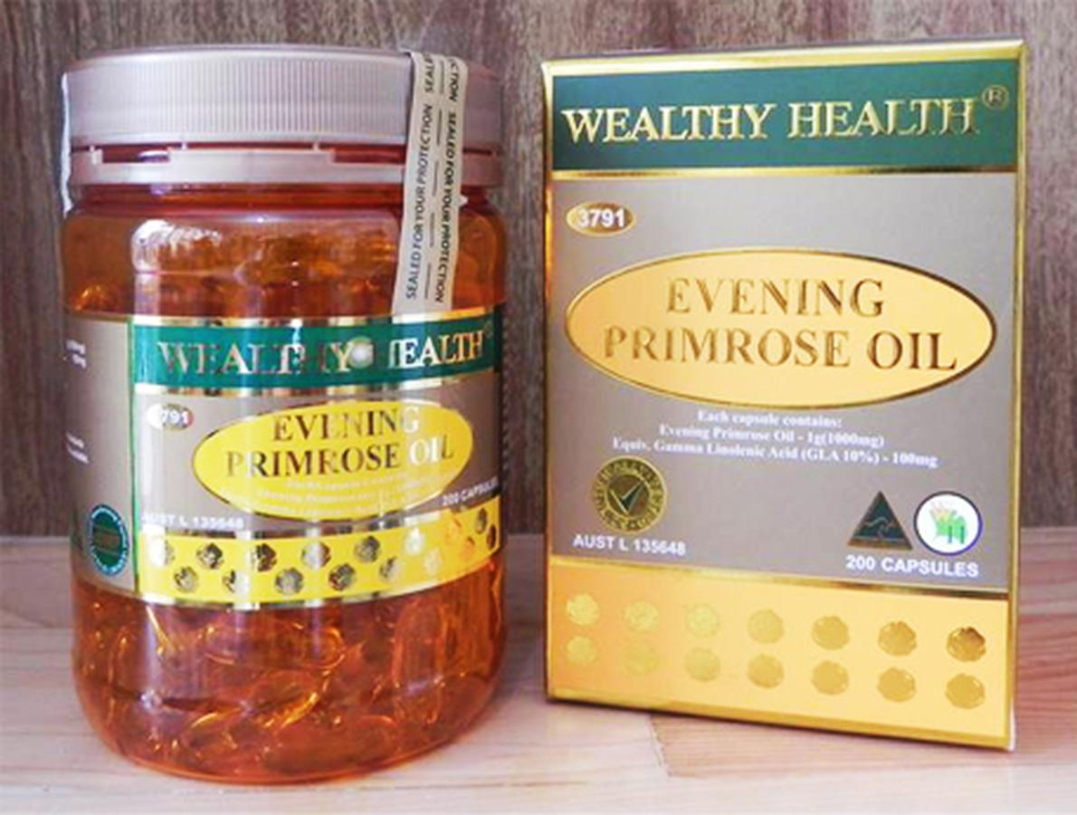 Tinh Dầu Hoa Anh Thảo Wealthy Health Evening Primrose Oil 200 Viên