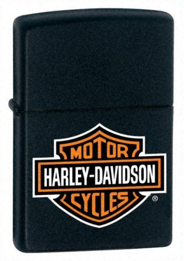 Bật Lửa Zippo 218HD.H252 Black Matte Harley Davidson