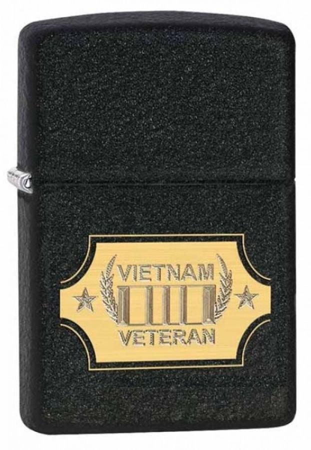 Bật Lửa Zippo 28875 Vietnam War Black Crackle