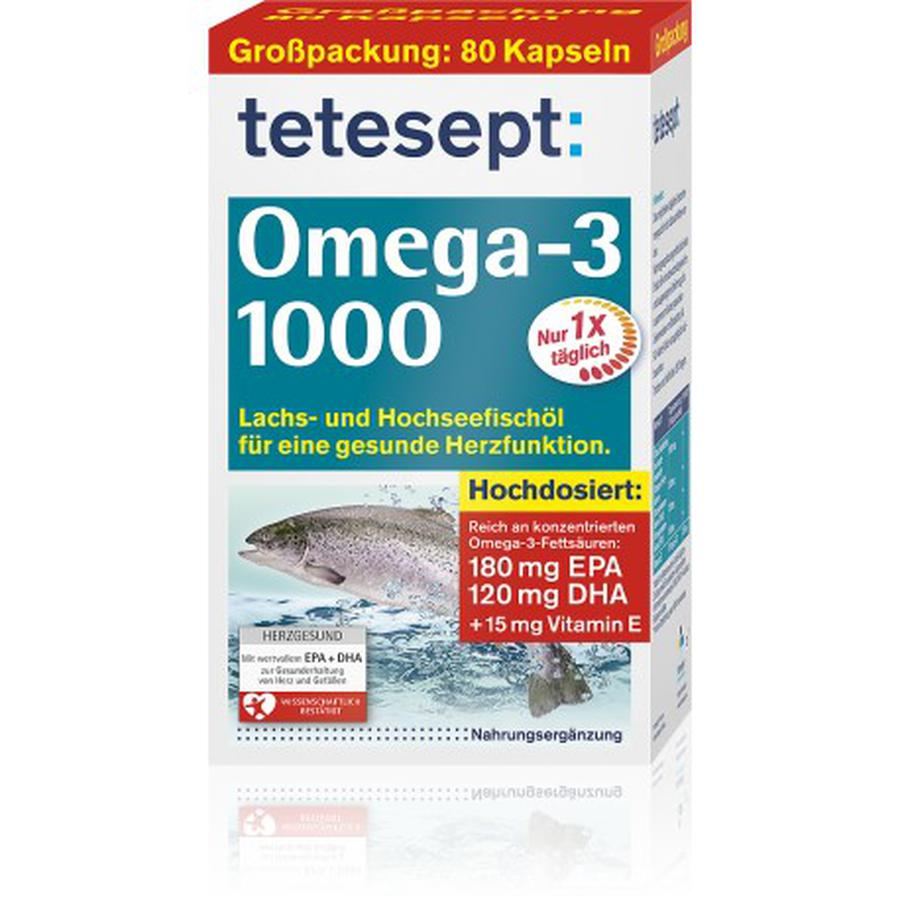 Dầu Cá Đức Tetesept Omega 3 Lachsöl 1000mg