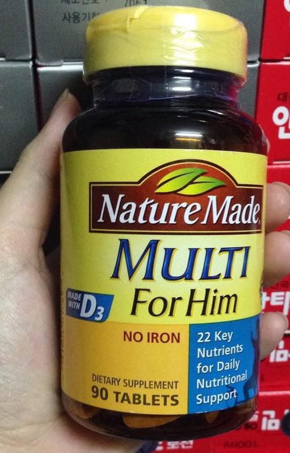Vitamin Tổng Hợp Cho Nam Nature Made Multi For Him 90 Viên