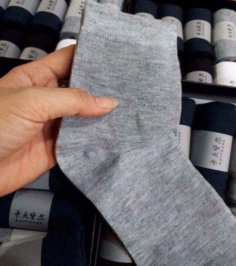 Hộp 10 Đôi Tất Nam Khử Mùi Hôi Chân Kaffdare Nhật Bản