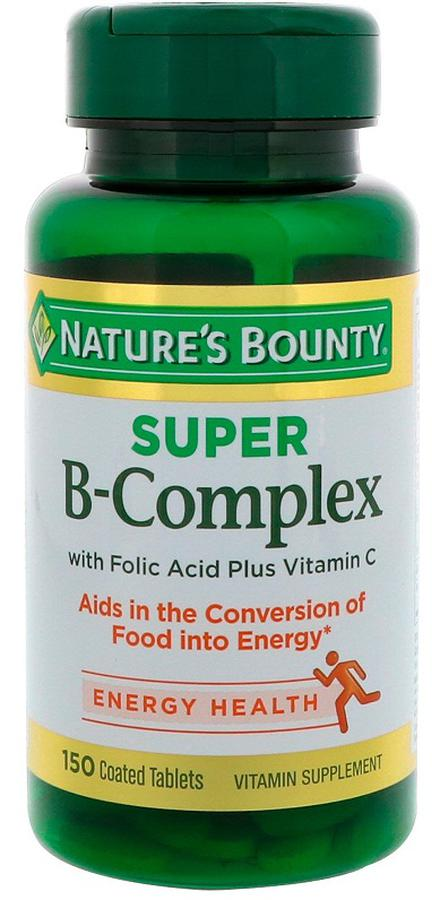 Viên B-Complex Nature's Bounty With Folic Acid + Vit C