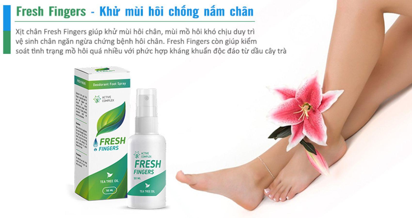 Xịt Khử Mùi Hôi Chân, Chống Nấm Fresh Fingers