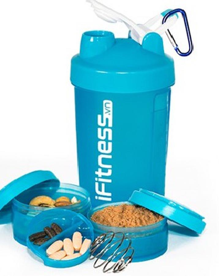 Bình Lắc IFitness Pro Shaker 4 In 1 Cao Cấp