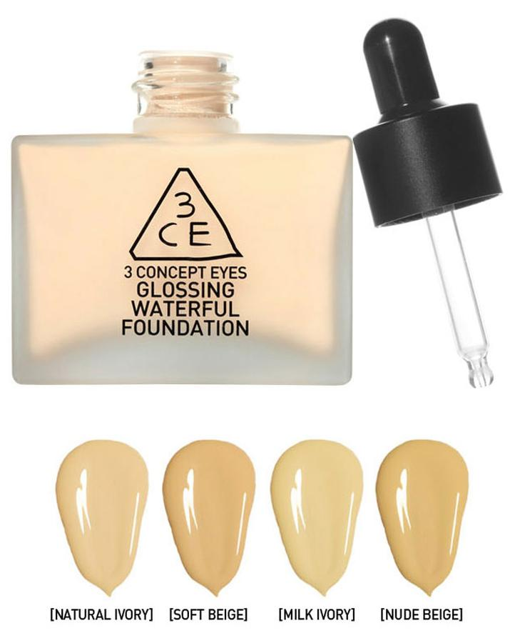Kem Nền Glossing Waterful Foundation 3ce