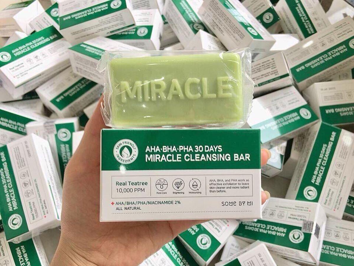Xà Bông Trị Mụn AHA-BHA-PHA 30 Days Miracle Some By Mi