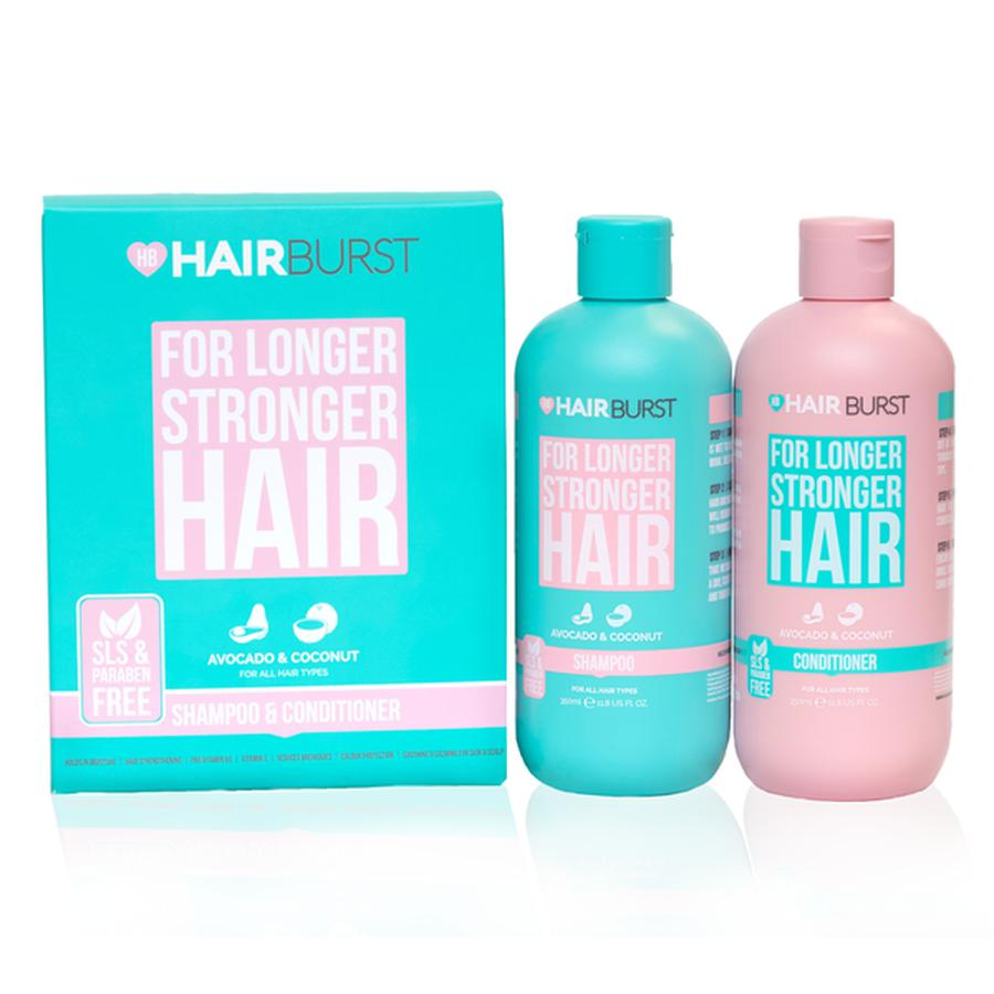 Bộ Dầu Gội Dầu Xả HairBurst For Longer Stronger