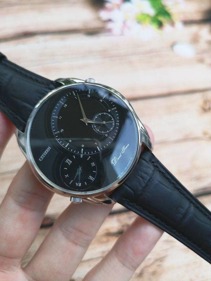 Đồng Hồ Citizen AO3009-04E Dual Time Dây Da Cho Nam