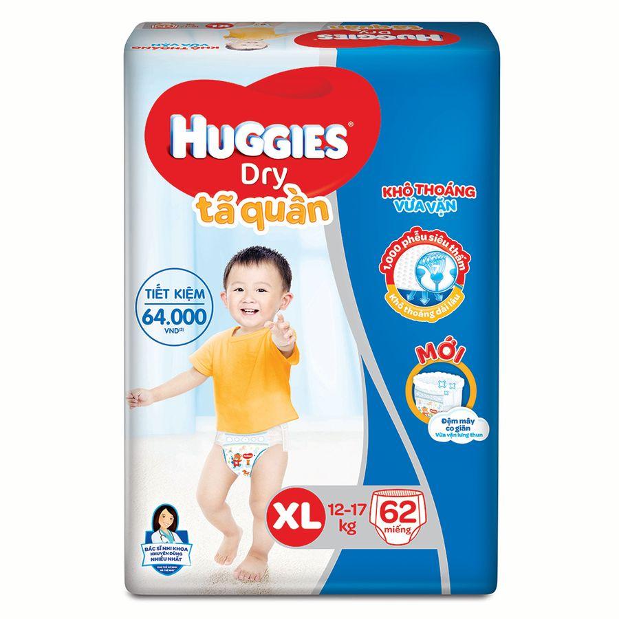 Bỉm Quần Huggies Size XL Cho Bé 12-17kg