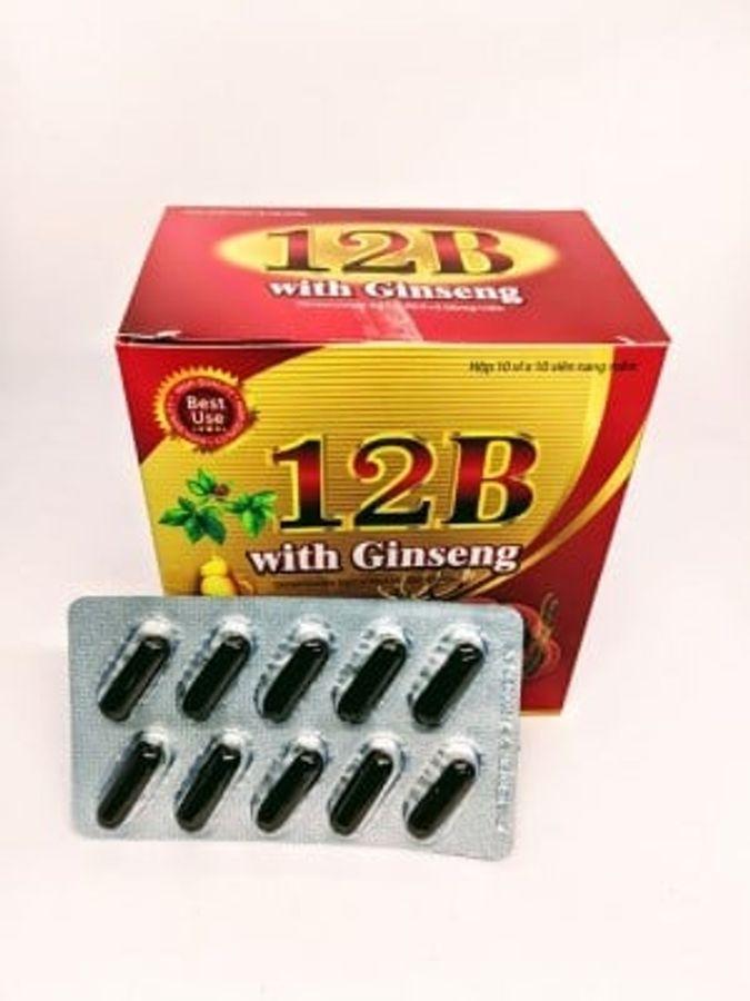 Viên Uống 12B With Ginseng Hỗ Trợ Bồi Bổ Cơ Thể