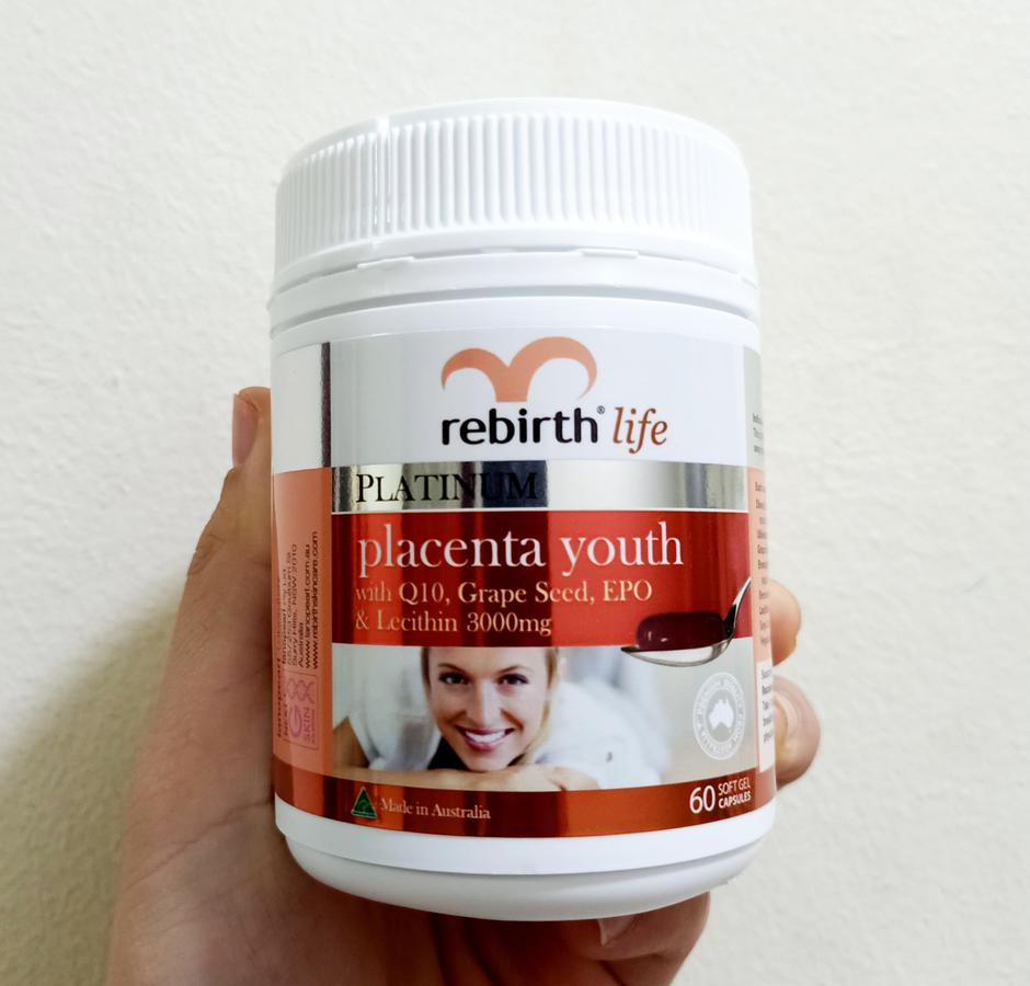 Nhau Thai Cừu Rebirth Platinum Placenta Youth 60 Viên