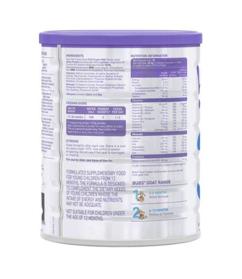 Sữa Dê Bubs Organic Goat Milk Số 3 Của Úc