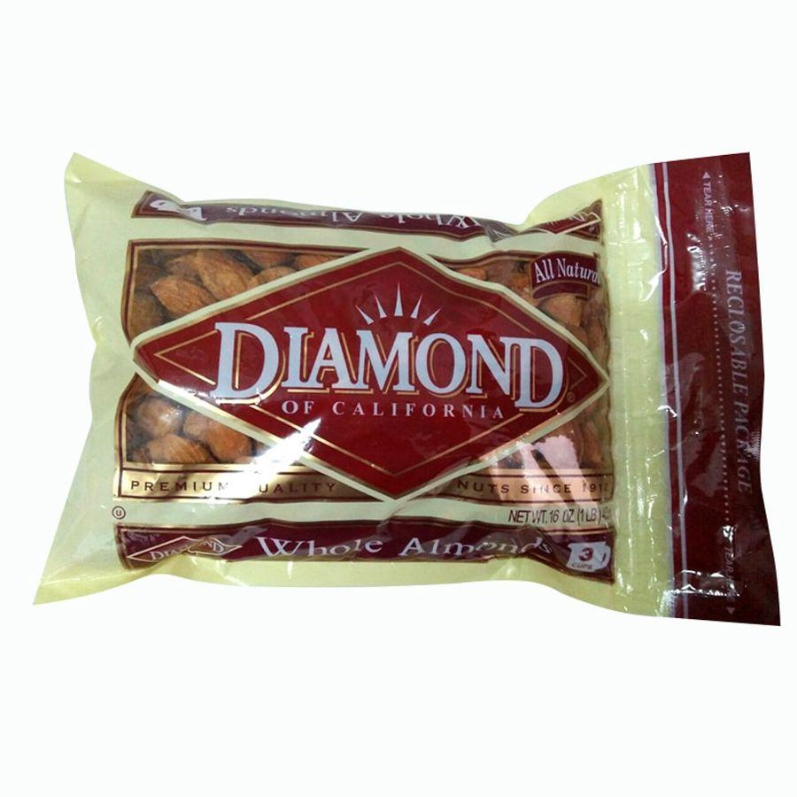 Hạnh Nhân Nguyên Vỏ Rang Bơ Diamond Of California 453g