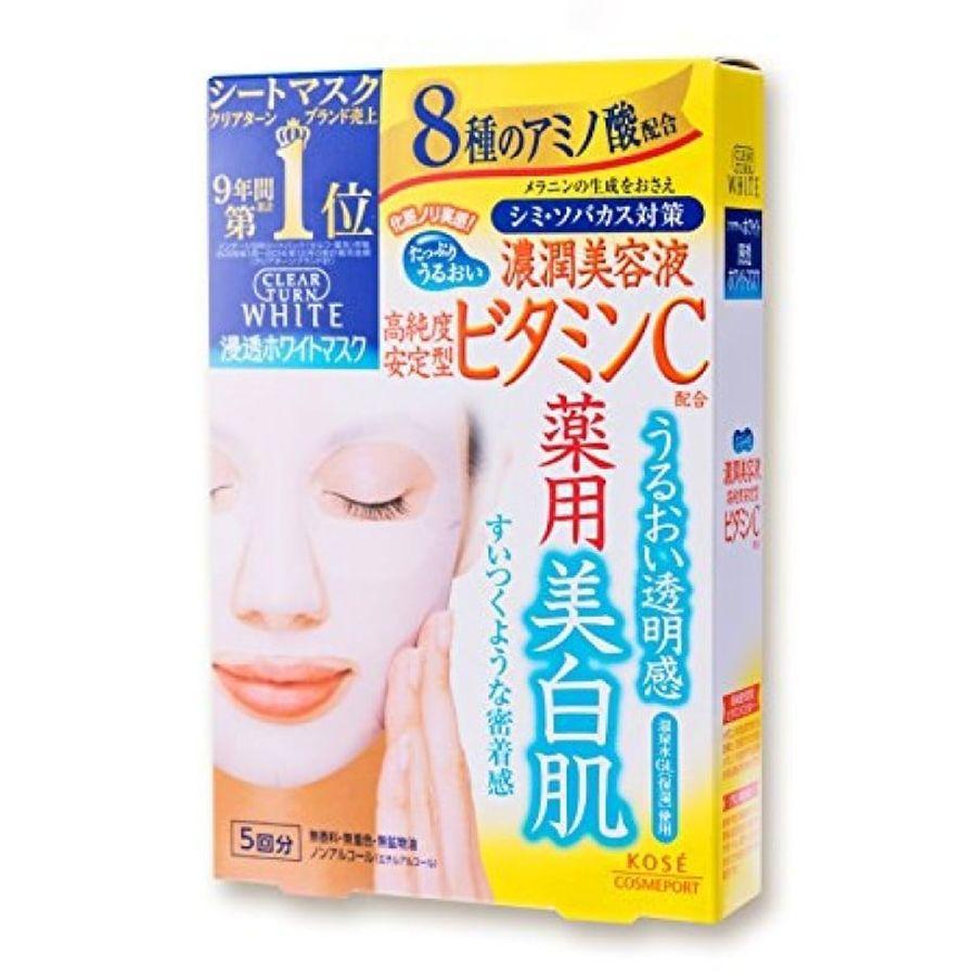 Mặt Nạ Dưỡng Da Kose Clear Turn White Mask Của Nhật