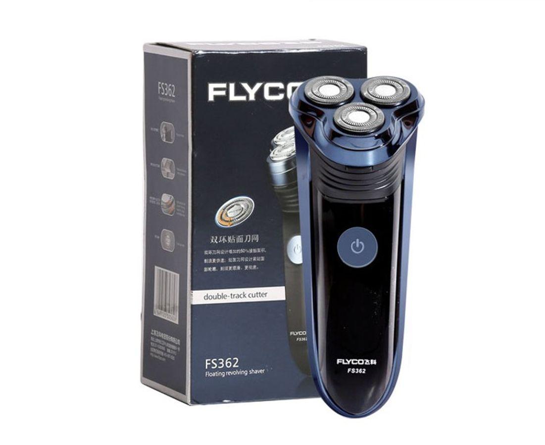 Máy Cạo Râu Flyco FS362 Xanh Đen 3D Có Tông Đơ