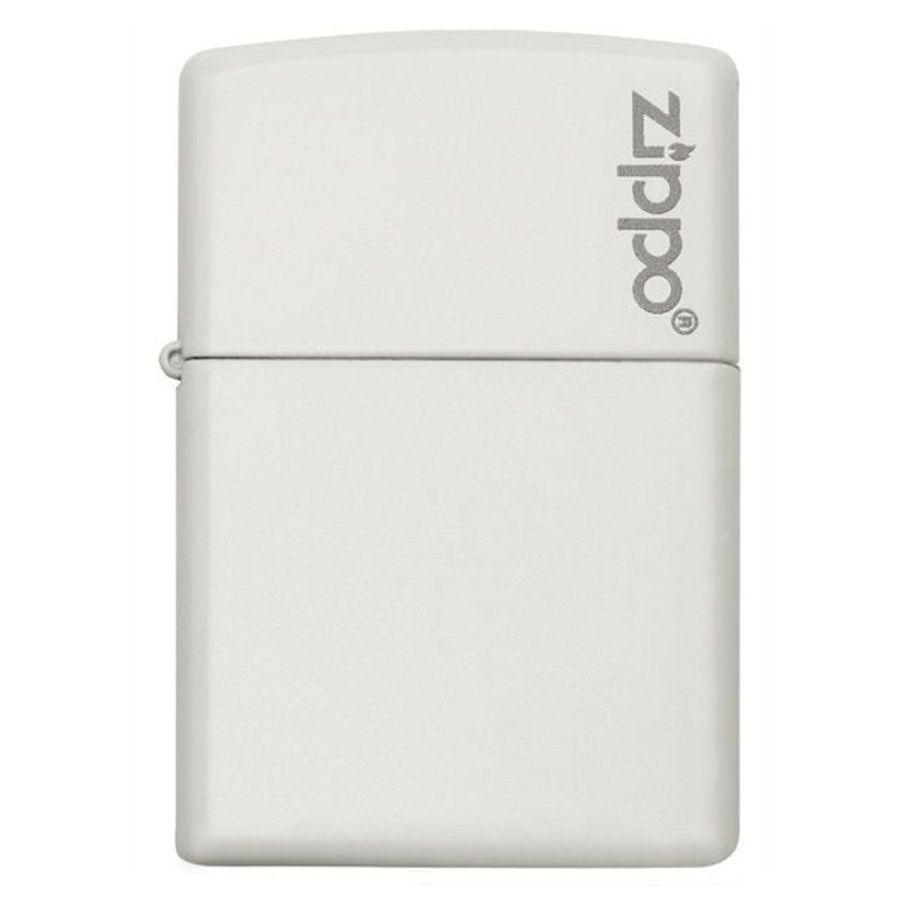 Zippo White Matte With Zippo Logo 214ZL Sơn Tĩnh Điện
