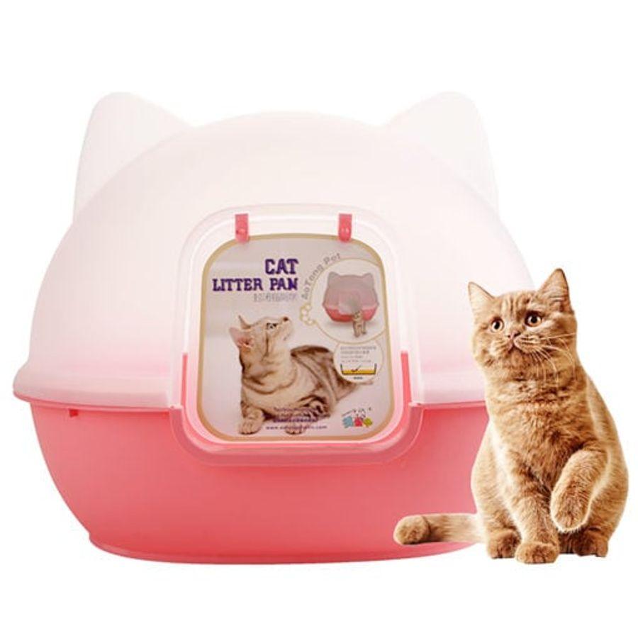 Nhà Vệ Sinh Đầu Mèo Có Cửa - Nhà Vệ Sinh Cho Mèo
