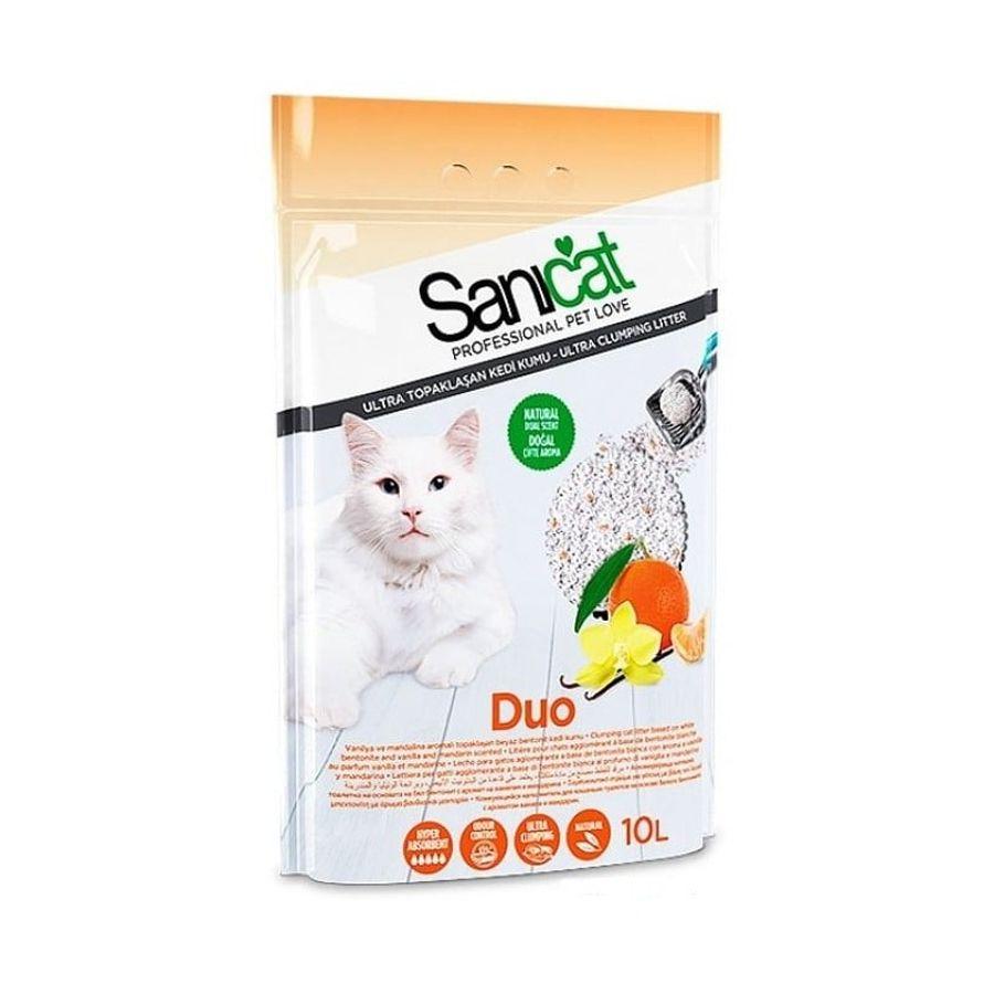 Cát Vệ Sinh Cho Mèo Sanicat Bentonite Hương Quýt 10L
