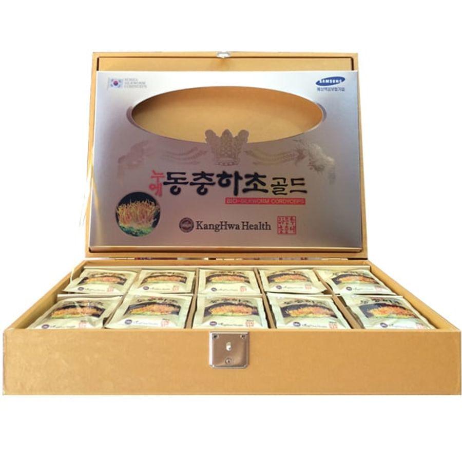 Nước Đông Trùng Hạ Thảo KangHwa Hàn Quốc Hộp Gỗ 60 Gói