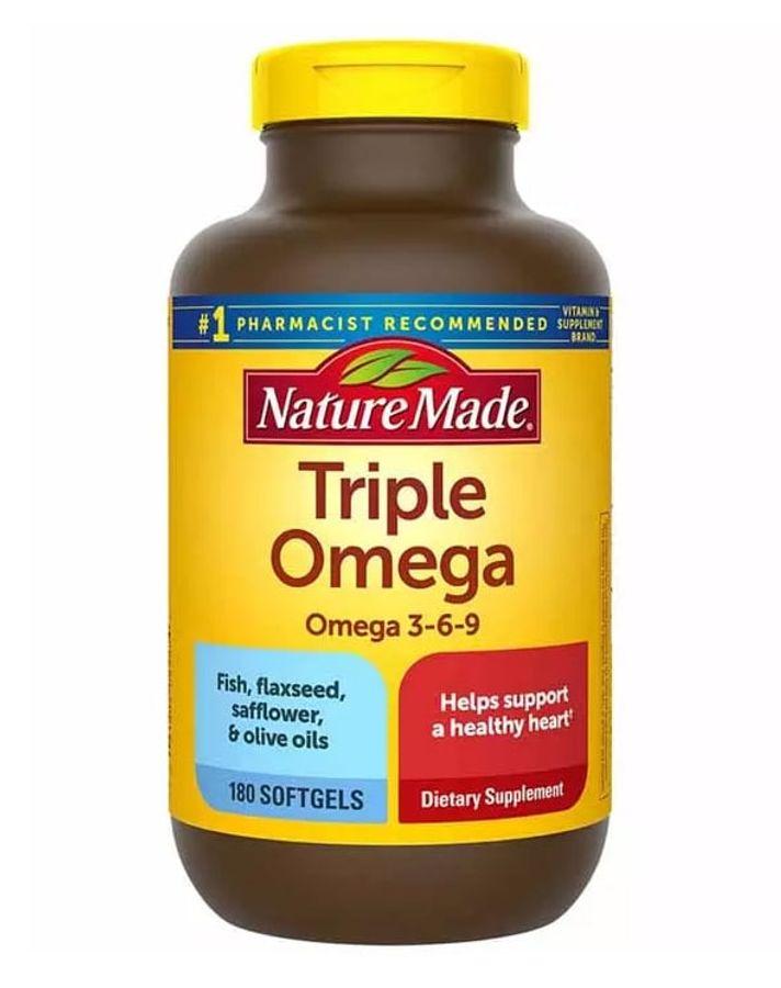 Viên Uống Triple Omega 3 6 9 Nature Made Chính Hãng Của Mỹ
