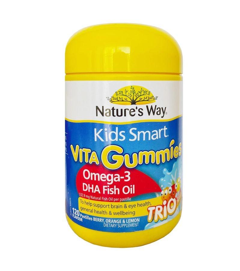 Kẹo Dẻo Nature's Way Kids Smart Omega3 DHA Trio